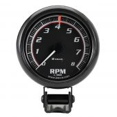 "2-1/2"" Mini Black Tachometer"