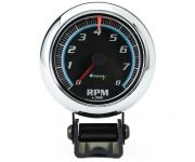 "2-1/2"" Mini Chrome Tachometer"