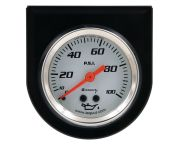 "2"" White Oil Pressure Gauge Kit"