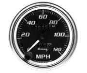 "3-3/8"" Chrome Mechanical Speedometer"