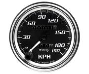 "3-3/8"" Chrome Mechanical KPH Speedometer"