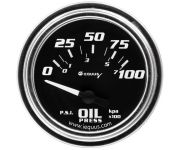 "2"" Chrome Electric Oil Pressure Gauge"