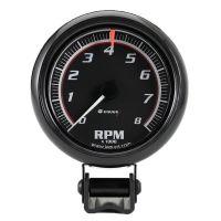 "2-1/2"" Mini Black Tachometer"